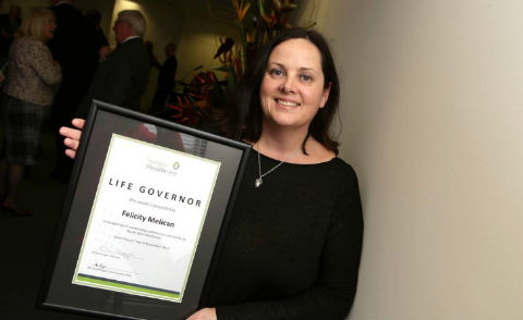 Accountant Felicity Melican receives South West Healthcare award