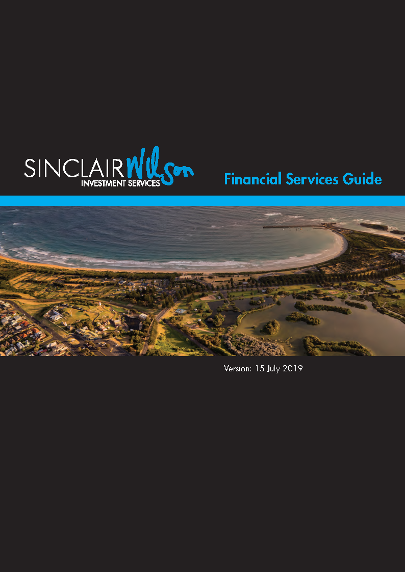 Financial Services Guide, Sinclair Wilson Investment Services