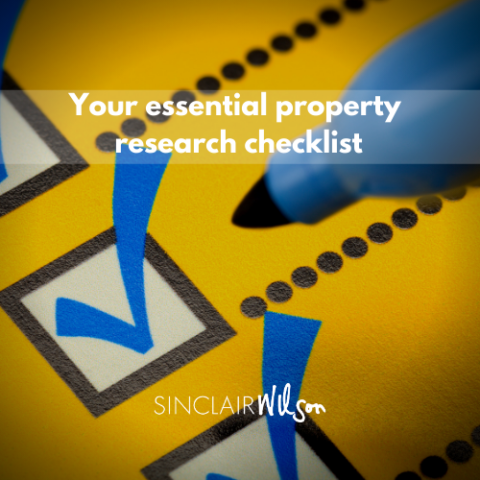 A checklist for researching your next property purchase