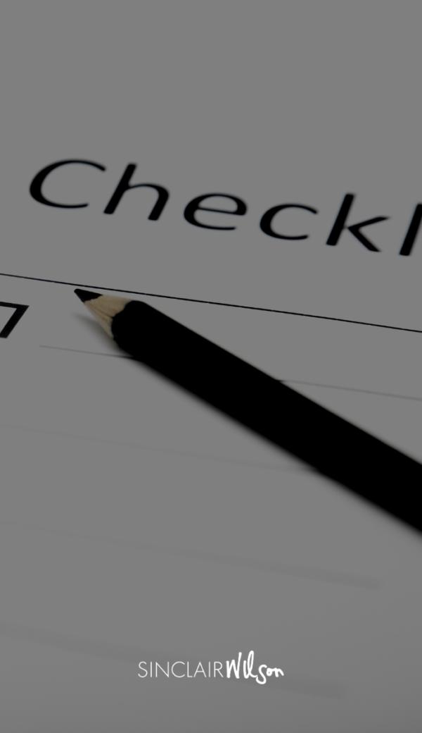 Depreciation checklist for investment property