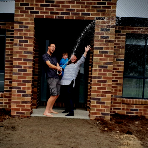 Couple are excited to own their new home