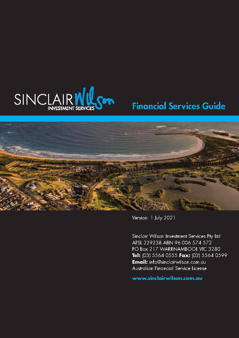 Sinclair Wilson Investment Service's Financial Services Guide